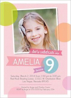 Party Bubbles 5x7 Stationery Card by Blonde Designs | Shutterfly