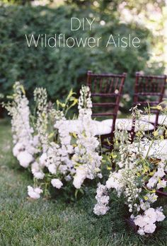 DIY Wildflower Aisle Wedding Ideas via oncewed.com