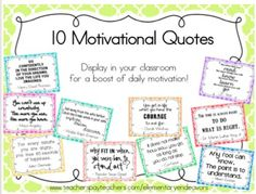 Quotes for Motivation and Inspiration QUOTATION – Image : As the quote says – Description Display these colorful quote posters around your classroom to give your students (and yourself) a bit of daily motivation! This is a zipped PDF … - Classroom Quotes, Classroom Posters, Classroom Decor, Classroom Charts, Classroom Organisation, Classroom Management, School Quotes, Class Quotes, Life Quotes