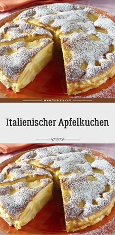 Italian apple pie - Ingredients: 5 sour apples 100 g butter liquid 2 medium eggs 250 g sugar 1 pck. Vanilla sugar 100 g - Apple Recipes, Baking Recipes, Cake Recipes, Dessert Recipes, Dessert Simple, Apple Pie Ingredients, Gateaux Cake, Flaky Pastry, French Toast Bake