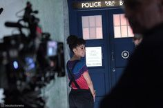 """Behind the scenes of Knock Knock. 21.3k Likes, 80 Comments - Doctor Who Official (@bbcdoctorwho) on Instagram: """"It's @therealpearlmackie filming #DoctorWho series 10!   #whovian #behindthescenes #TARDIS"""""""