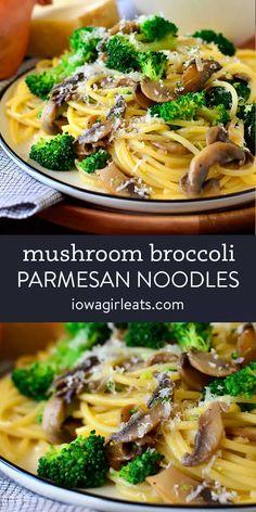 Parmesan Noodles, Parmesan Broccoli, Broccoli Pasta, Veggie Noodles, Gluten Free Recipes For Dinner, Vegetarian Recipes, Dinner Recipes, Healthy Recipes, Fall Recipes