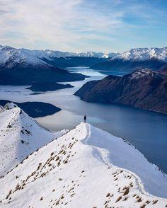 Lake Wanaka on the South Island of New Zealand. Photo by @rachstewartnz Shop Keep Exploring!