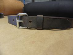 This beautiful water buffalo leather belt looks perfect with jeans for a casual rustic look. Number Stamps, Water Buffalo, Brown Leather Belt, Etsy Handmade, Leather Craft, Things To Sell, Casual, Rustic, Jeans