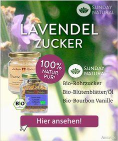 Lavendelzucker Rezept: Aromazucker herstellen für Kuchen, Torten, Sahne, Desserts oder Kekse. Mit der richtigen Lavendelsorte ausgefallenen Zucker selber machen.