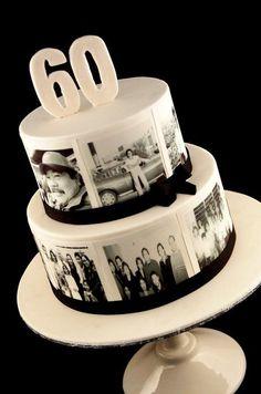 60th Birthday Cake - Photo Cake Mais