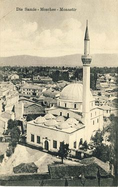 """View from the  Clock Tower toward Yeni mosque and the surrounding buildings of """"Pekmez"""" Market"""