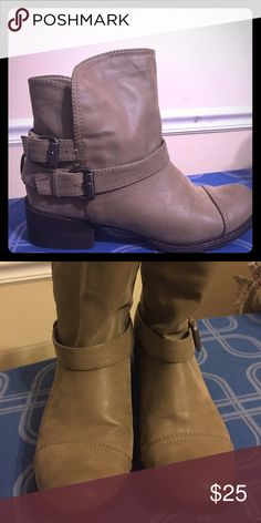 Gray Combat Boots Rocketdog Combat Boots! Comfortable wear and only worn once. Rocket Dog Shoes Combat & Moto Boots