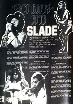 Slade Band, Noddy Holder, Walsall, British Rock, Wolverhampton, 25th Anniversary, Number One, Knock Knock, Articles