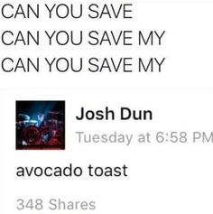 For meeeee UH! can you save my avocado toast?!