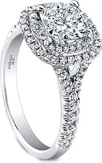 Jeff Cooper Double Halo Diamond Engagement Ring RP1610CU