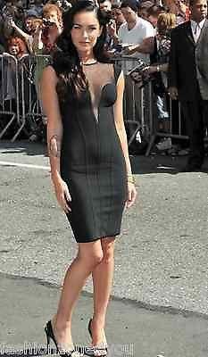 ad7d40d59d1 Black celebrity bandage bodycon dress cocktail evening party sleeveless XS-L