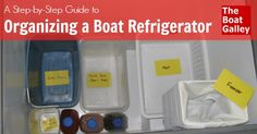 Most boat refrigerators don't have any organizing tools built in — no bins, shelves or anything.  Here's how to customize it according to YOUR preferences!
