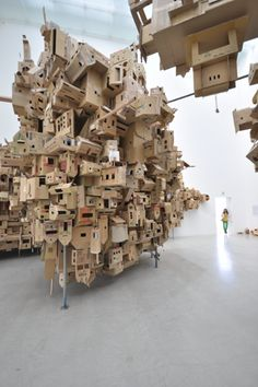 Alfredo & Isabel Aquilizan In-habit: project Another Country Century Museum of Contemporary Art Kanazawa Japan Cardboard City, Building Art, Museum Of Contemporary Art, Weird Art, Conceptual Art, Installation Art, Home Art, Sculpture Art, Kanazawa Japan