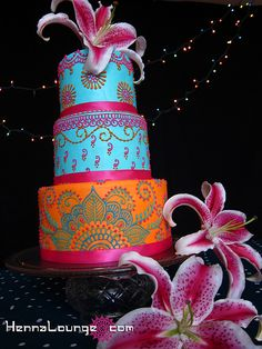 Colorful Indian cake
