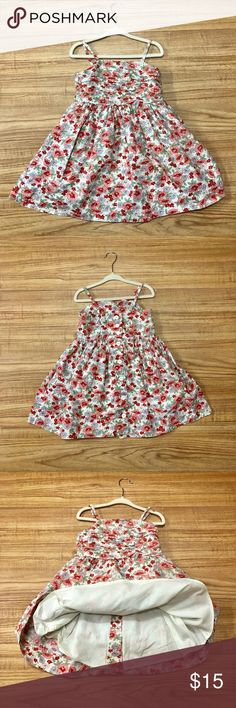 Ralph Lauren Polo dress (lined)  3t like New Beautiful floral summer dress. Perfect for a summer wedding! Lined & adjustable straps. 8 white buttons down the back. Like New Condition Polo by Ralph Lauren Dresses Casual