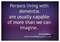 Alzheimer's Reading Room - Google+ - Alzheimer's and Dementia Patients are Capable of More Than…