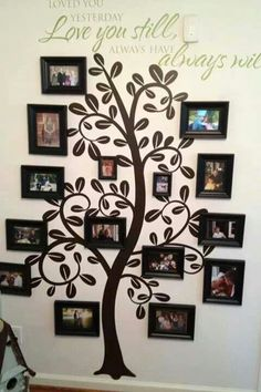Family picture wall decor family frames for wall wall art design ideas astonishing family tree wall . Family Wall Decor, Family Tree Wall, Family Trees, Picture Wall, Picture Frames, Family Tree With Pictures, Family Photos, Photo Displays, Tree Art