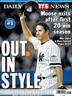 Moose - Mike Mussina. If they're gonna keep players out of the HOF for shady behavior on and off the field they should give guys like Mike Mussina, Dale Murphy and Don Mattingly extra points for playing the game the way it should be played and representing baseball with class and integrity.