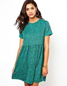 Club L Knitted Leopard Smock Dress