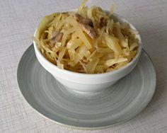 Hvidkål med champignon og hvidløg