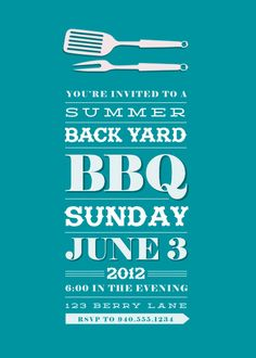 Backyard BBQ party invite... Tranform this into a #FreedomBBQ invitation!