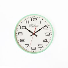 The Bedford Wall Clock Teal - G131614TEAL