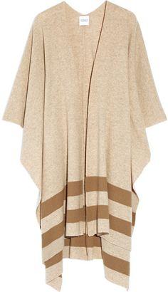 Madeleine Thompson - Towton Striped Cashmere Wrap - Camel