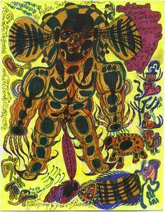 Noviadi Angkasapura    Untitled  , 2014 Ink on found paper 8.25 x 7 inches / 21 x 17.8 cm / NoA 97