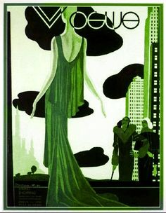 Green - Vogue USA cover, March 1930 - Pierre Mourgue