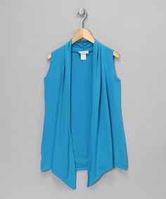 Take a look at this Turquoise Wrap Vest by Fashion Points: Tween Trends on #zulily today!