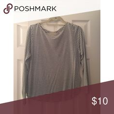 H&M striped tee Simple H&M black and white striped tshirt H&M Tops Tees - Long Sleeve