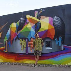 Rainbow Thief Mural art by Okuda San Miguel. |cutpastestudio| art artist artwork creativity entertainment illustration beautiful creativity drawings muralart street art graffiti art