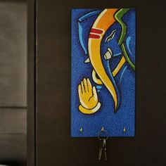 "Lord Ganesha Handpainted Key Holder Blue | <span class=""tm-tag tm-tag-danger"">simple</span><span class=""tm-tag tm-tag-success"">Decor</span><span class=""tm-tag tm-tag-warning"">WallDecors</span>#simple, #Decor, #WallDecors,"