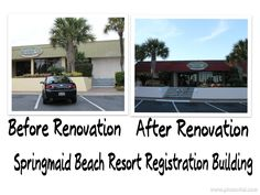 Our recently completed renovation on our registration building www.springmaidbeach.com