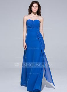 Bridesmaid Dresses - $99.99 - A-Line/Princess Sweetheart Floor-Length Chiffon Bridesmaid Dress With Ruffle (007037199) http://jjshouse.com/A-Line-Princess-Sweetheart-Floor-Length-Chiffon-Bridesmaid-Dress-With-Ruffle-007037199-g37199