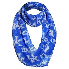 Fashion Scarves NCAA Kentucky Wildcats Solid Blue, Women's