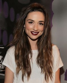 Crystal Reed's Make Up (from 2011 mtv vid music awards)-- I wish I was brave enough to try a deep purple lip.