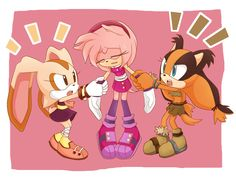 ❀ I made this before Sonic boomreleased that's what I thought when they said that Sticks was the new best friend of Amy Rose, who looked way too well to Marine I hope you like ♥