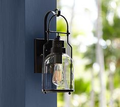 """$179 (16"""" H) Taylor Indoor/Outdoor Sconce #potterybarn"""