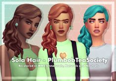 """cubersims: """" #37 DOWNLOAD This pack is amazing, idk what i'd do without PlumbobTeaSociety jfewoi Requested by a nonny!! • - Base game compatible! • - Comes in WMS unnaturals, naturals and neutrals • -..."""