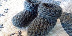 Simple Crochet Baby Booties