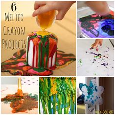 Dilly-Dali Art: 6 Melted Crayon Projects/
