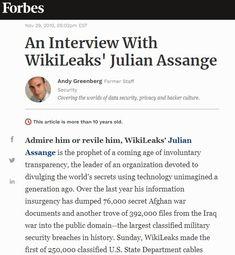 2010 Nov 29: An Interview With WikiLeaks' Julian Assange