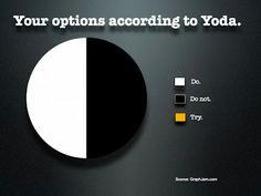 Options according to Yoda: DO or DO NOT, there is no TRY