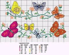 ♥ ♥ cross stitch Archives: BUTTERFLIES-CROSS STITCH PATTERN ♥ ♥ Free Pattern ~ Awesome site with lots of Freebies!!!
