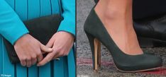 Kate accessorized with a clutch and matching heels from Emmy Shoes.