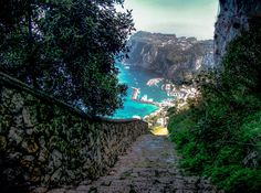 Road in to Capri, Italy