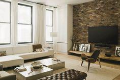 bricks in living room - Google Search