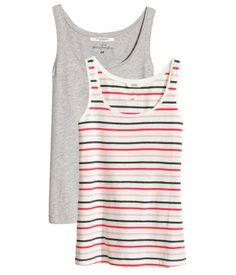 H&M 2 camisetas de tirantes $ 6.990